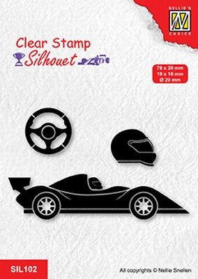 SIL102 Clear stamps silhouette Formula one serie: 1