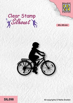 SIL098 Silhouette Clear stamps sports Cycling-2