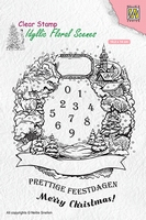 IFS020 Idyllic floral scenes clear stamp Christmas Wreath