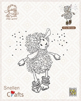 SCLOLA002 Clear stamps Little Lammy It's snowing!!