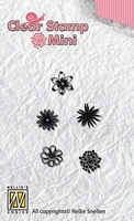 MAFS003 Mini clear stamps flowers