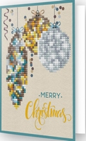 DDG.009 Diamond Dotz® - Greeting Card MERRY CHRISTMAS BAUBLE