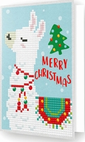 DDG.003 Diamond Dotz® - Greeting Card MERRY CHRISTMAS LLAMA