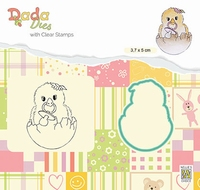 DDCS021 DADA Set Die & Clear stamp Hello World