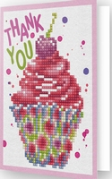 DDG.025 Diamond Dotz® - Greeting Card CUP CAKE THANK YOU