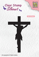 SIL058 Silhouet Clear stamps cross
