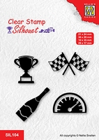 SIL104 Clear stamps silhouette Formula one serie: 3